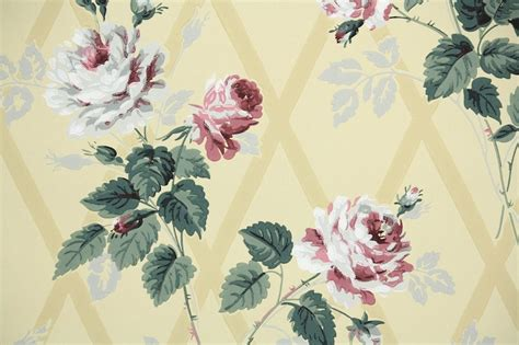 wallpaper dinding vintage flower 1940s floral vintage wallpaper hannah s treasures
