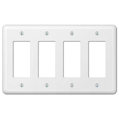 4 decorator wall plate hton bay 4 decorator wall plate white 935r4w