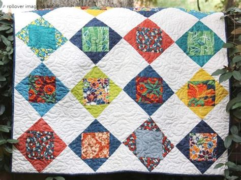 Craftdrawer Crafts Free Quilt Pattern Patchwork Throw - get scrappy with 8 free scrap quilt patterns