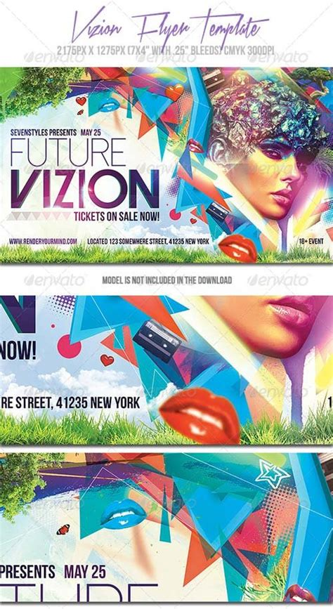 Flyer Templates Graphicriver Vizion Flyer Template Graphicflux Graphicriver Flyer Template
