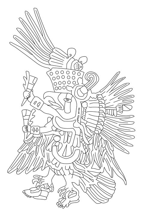 quetzalcoatl coloring page mayans incas coloring pages for adults coloring page