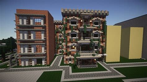 minecraft town houses townhouses minecraft project