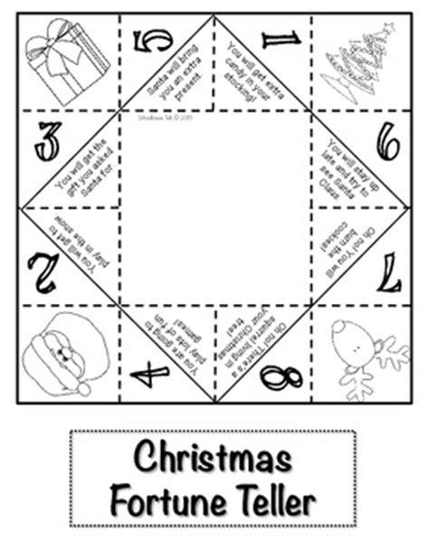 printable christmas fortune teller schoolhouse talk 2013