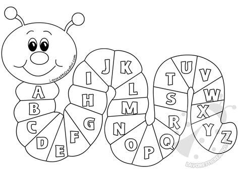 lettere alfabeto da colorare scuola infanzia cartellone per la scuola bruco con le lettere dell
