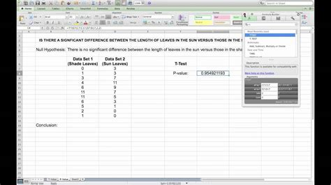 t test calculator carrying out a t test in microsoft excel