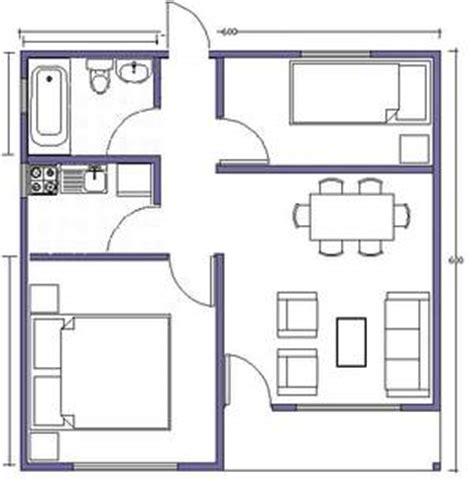 Planta Casas casa 6x6