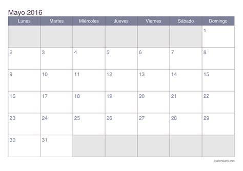 almanaque mayo 2016 calendario mayo 2016 para imprimir icalendario net