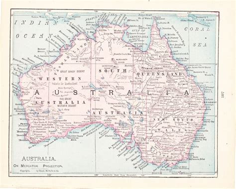 maps of australia for sale 1908 map australia vintage antique map great for framing 100