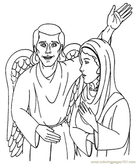 free coloring pages angel and mary free mary and the angel coloring pages