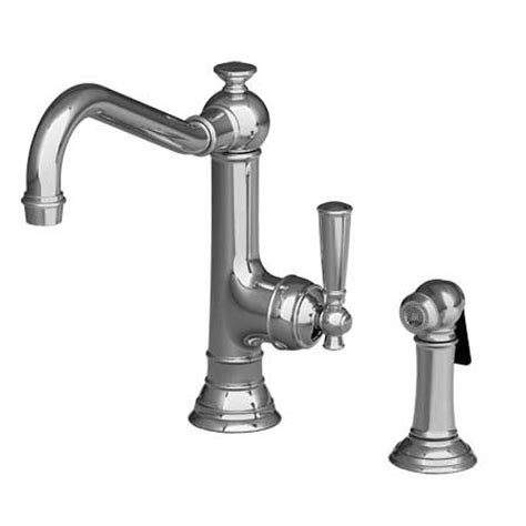 newport brass kitchen faucets 2470 5313 newport brass single handle kitchen faucet with side spray 2470 5313 focal point