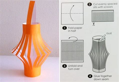 A Lantern Out Of Paper - how to make a paper lantern arts crafts and diy