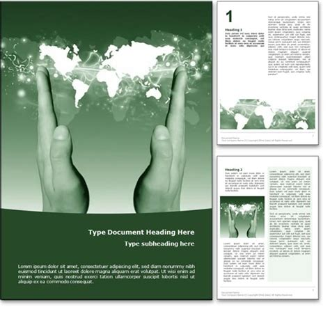 Royalty Free Supply Chain Microsoft Word Template In Green Free Phlet Template Word