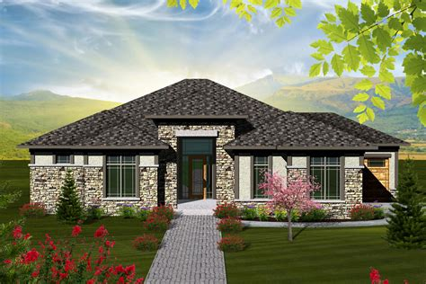 Hip Roof Ranch House Plans Ranch Style House Plan 2 Beds 2 5 Baths 2081 Sq Ft Plan 70 1117