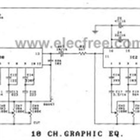 Pcb Equalizer 10channel graphic equalizer circuit using op 4558 lf353