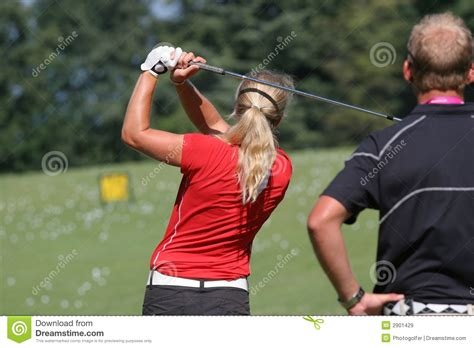 lady golf swing lady golf swing stock image image of drive practice