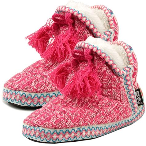 house slipper booties muk luks womens slipper boots indoor house shoes cute