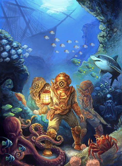 under the sea l shipwreck cartoons mystic wreck picture 3d landscape