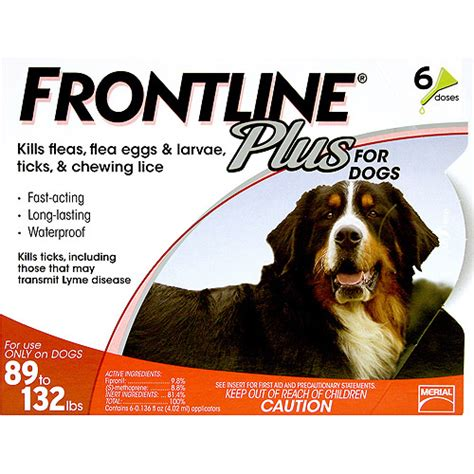 tick protection for dogs frontline plus flea and tick for dogs 89 132 lbs walmart