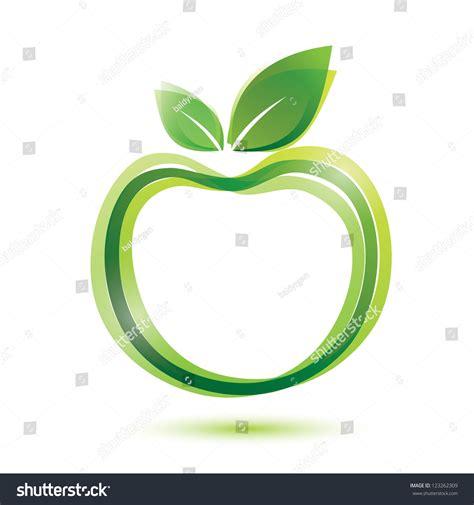 apple logo biography green apple icon ecology bio food stock vector 123262309