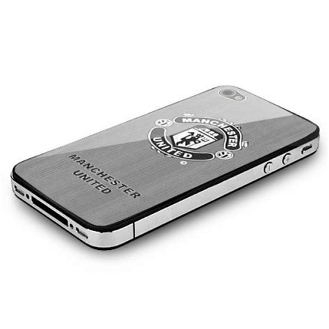 Iphone 4 4s Manchester United Stripe Black Cover Casing fc logo stainless steel back cover for iphone 4s manchester united back covers iphone 4 4s