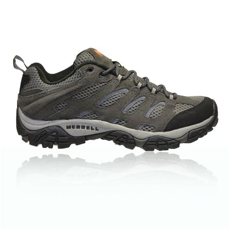 mens hiking sneakers merrell moab ventilator mens grey black walking hiking shoes