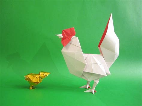 Origami Chicken Easy - 2017 new year origami rooster extravaganza