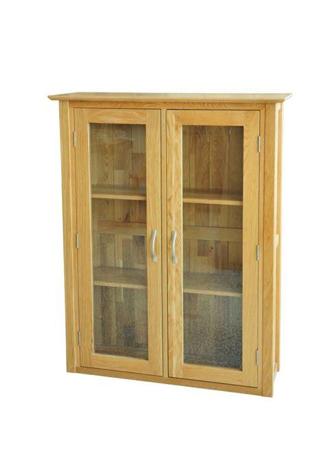 Small Display Cabinet With Glass Doors Modbury Oak Small Dresser Top The Oak Loft