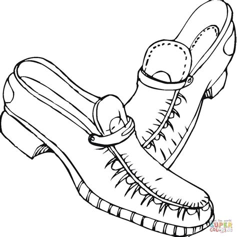 shoe coloring page shoes coloring page free printable coloring pages