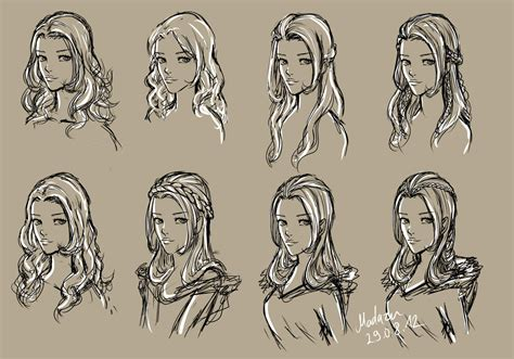 Drawing 4 Fall Hairstyles by Hairstyles Drawing At Getdrawings Free For Personal