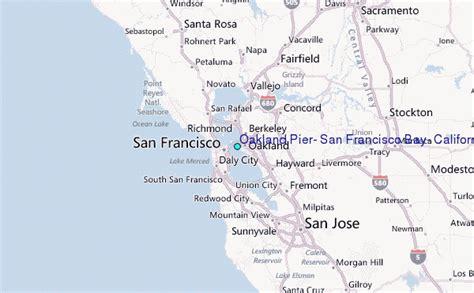 san jose to oakland map oakland pier san francisco bay california tide station
