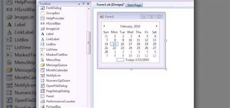 design calendar in vb net how to make a calendar in vb net 171 vb net