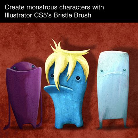make pattern brush illustrator cs5 dzinegeek create monstrous characters with illustrator