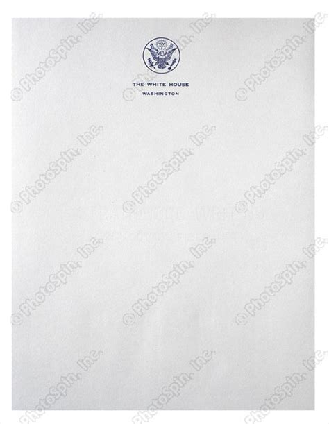 Official White House Letterhead Image By Photospin Image 0490088 Photospin