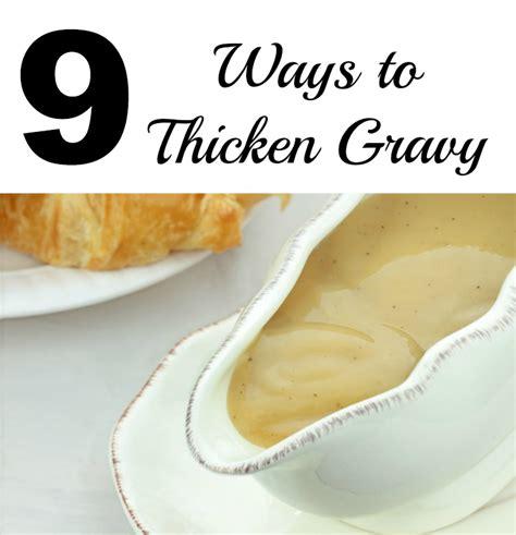 9 ways to thicken gravy