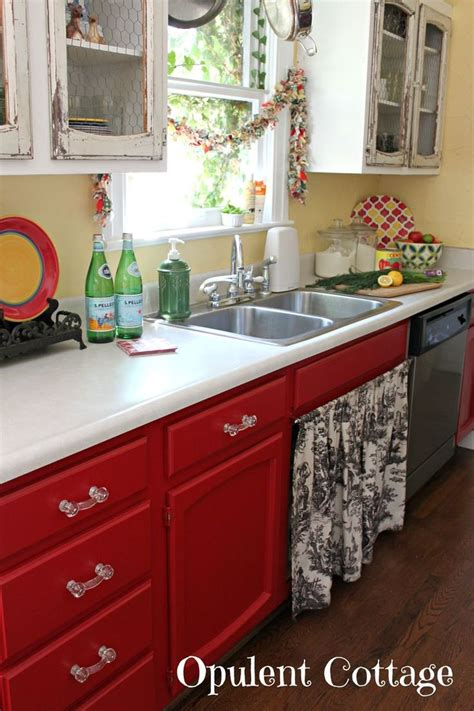 red kitchen cabinets i like the red kitchen cabinets but i don t get the