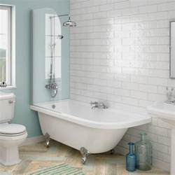 Roll Top Bath With Shower appleby 1700 roll top shower bath with screen chrome leg