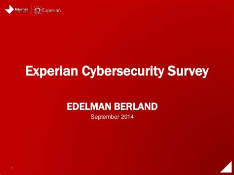 Experian Search Experian Cybersecurity Survey
