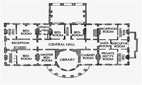 The White House Floor Plan by Floor Plan Of The White House White House Third Floor