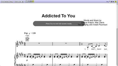 avicii you make me sheet music addicted to you by avicii piano sheet music teaser youtube