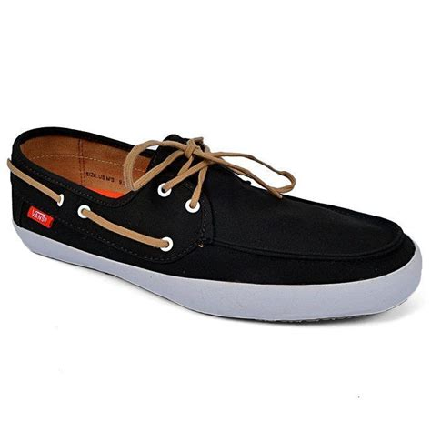 vans off the wall boat shoes vans off the wall surf chauffeur black tan boat shoes mens