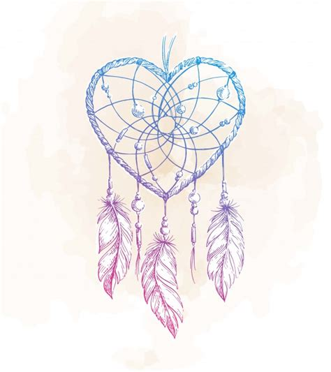dream catcher tattoo we heart it dreamcatcher heart illustration vector premium download