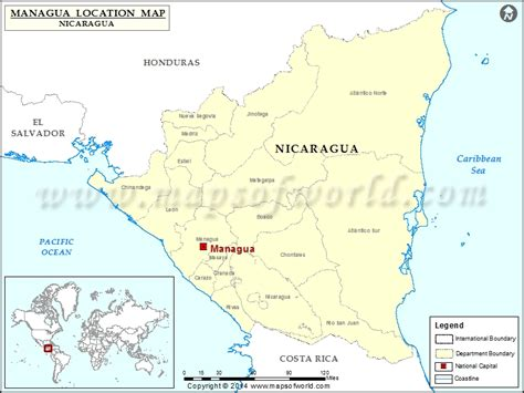 nicaragua location on world map where is managua location of managua in nicaragua map