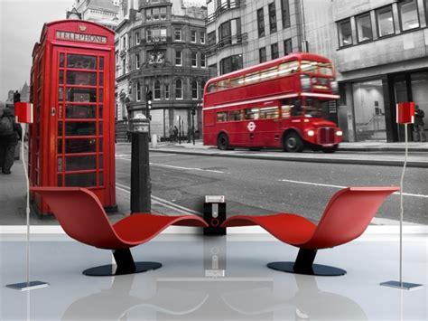 Tapisserie Londres by Papier Peint Cabine T 233 L 233 Phonique Et Rouges 224 Londres