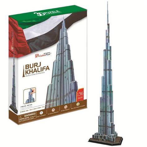 How To Make Burj Khalifa Out Of Paper - 3d puzzle burj khalifa 136 pieces supersmartchoices