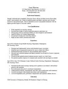 Resume Oncology Oncology Resume Sle Gallery Creawizard