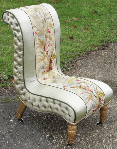 antique bedroom chair victorian needlepoint and silk open bedroom chair