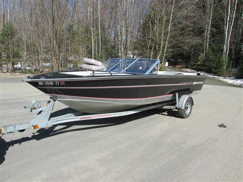 spectrum boats 19 5 foot spectrum aluminum boat with galv trailer 1990
