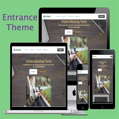 bootstrap themes hack entrance bootstrap theme 187 webnots