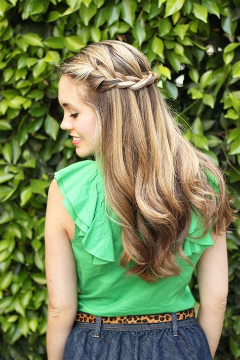 tutorial waterfall braid waterfall braid tutorial hair how tos pinterest