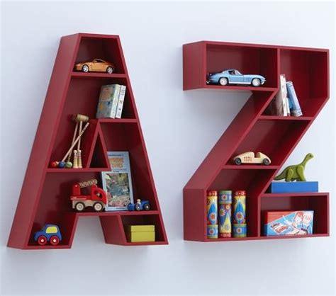 pottery barn letter shelf alphabet nursery ideas